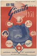 1951 Scorecard  Giants (part. Scored vs Cardinals) Ex