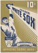 1951 Scorecard  Chicago White Sox (scored vs. Indians w/2 tickets (5/11/51)) Ex+