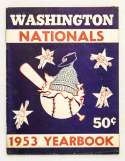 1953 Yearbook  Washington Nationals Ex