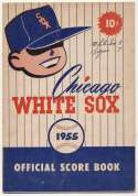 1955 Scorecard  White Sox (scored vs. Tigers Ex mk