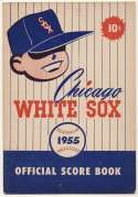 1955 Scorecard  White Sox (scored vs. Tigers Ex+