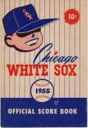 1955 Scorecard  White Sox (unscored vs. Senators) Ex