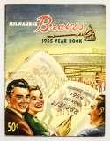 1955 Yearbook  Milwaukee Braves VG-Ex/Ex