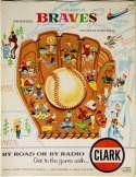 1957 Scorecard  Braves (unscored vs Cubs) Ex-Mt