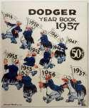 1957 Yearbook  Brooklyn Dodgers NM