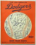 1958 Yearbook  Los Angeles Dodgers Ex