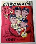 1961 Yearbook  St Louis Cardinals Ex+