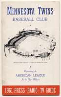 1961   Minnesota Twins Media Guide Ex