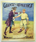 1913 World Series Program  At New York Ex
