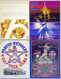 1975   Lot of 18 All Star Game Programs 1975 - 1989 Ex-Mt
