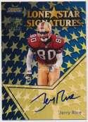 1999 Stadium Club Lone Star Signatures  Jerry Rice 9.5
