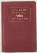 Book  Rice, Grantland Signed 1917 Songs of the Stalwart 9