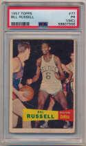 1957 Topps 77 Bill Russell RC PSA 1 mc