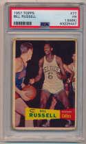 1957 Topps 77 Bill Russell RC PSA 1.5 mk