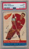 1954 Topps 58 Terry Sawchuk PSA 2.5