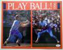 Program  Schmidt, Mike Double-Signed 1996 Play Ball Calendar 9.5 JSA LOA (CARD)