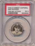 1910 Sweet Caporal Pins 126.1 Nap Rucker (small letters) PSA 5