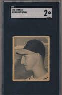 1948 Bowman 18 Spahn RC PSA 2