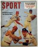 Program  Kluszewski/Roberts/Spahn Signed 1957 Sport Magazine 9.5 JSA LOA