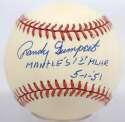 Retired 40s - 70s  Gumpert, Randy  9.5 (Budig, Mantle 1st Home Run)