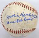 Deceased  Hudlin, Willis  8 (Babe Ruth HR inscription) PSA DNA (CARD)