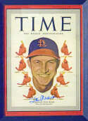 Program  Musial, Stan Signed 1949 Time Magazine 9.5