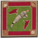 1914 B18 Blanket 75.2 Casey Stengel (green infield) Ex-Mt