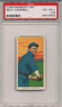 1909 T206 70 Campbell PSA 4.5
