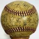 1940 Yankees  Team Ball 5 JSA LOA (FULL)