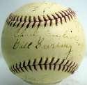 1943 LA Angels  Team Ball 5
