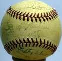 1943 Indians  Team Ball 7 JSA LOA