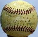1944 Giants  Team Ball w/Ott, Lombardi & Luque 6 JSA LOA