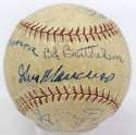 1944 Giants  Team Ball 5 JSA LOA