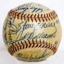 1951 Red Sox  Team Ball w/mixed signatures - Ted Williams & Johnny Orlando 9