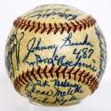 1953 Red Sox  Team Ball w/mixed signatures 9