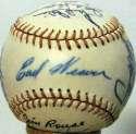 1964 Elmira Pioneers  Team Ball w/Earl Weaver 8.5 JSA LOA