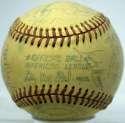 1976 Yankees  Team Ball w/real Munson 7