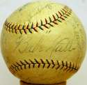 1927 Yankees  Team Ball w/real Gehrig 7 JSA LOA