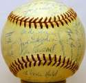 1959 Indians  Team Ball 8 (OAL Harridge) JSA LOA