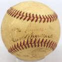 1938 Cubs  Partial Team Ball w/Dean & Hartnett 3