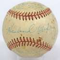 1938 Yankees/Braves  Team Ball w/early DiMaggio 6 JSA LOA (FULL)