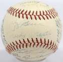 1957 Yankees  Team Ball w/ch Mantle 8 JSA LOA (FULL)