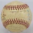 1975 Tigers  Team Ball (31 sigs w/Kaline) 7.5