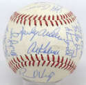 1986 Tigers  Team Ball (26 sigs w/Anderson, Trammell) 7