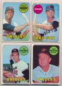 1969 Topps  Very Near-Set (644 different w/many secondary stars) Ex-Mt/NM