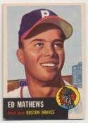 1953 Topps 37 Mathews VG-Ex/Ex