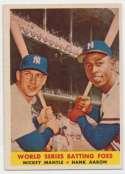 1958 Topps 418 Mantle/Aaron Ex++