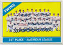 1966 Topps 526 Twins Team Ex-Mt+