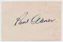 Cut  Waner, Paul Vintage 1939 Signed 4x3 Cut 9