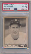 1940 Play Ball 27 Ted Williams PSA 4